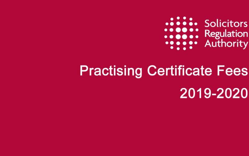 Consultation on Practising Certificate Fees 2019-20