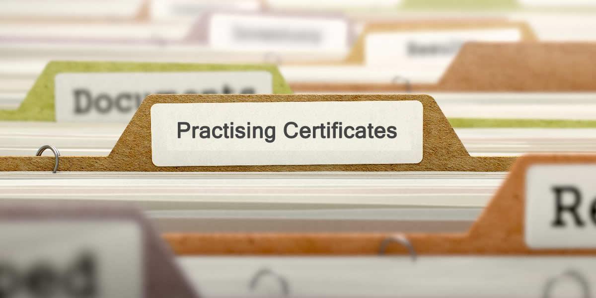Practising Certificate Fees